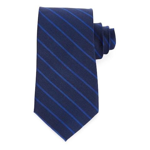 Tommy Hilfiger Men's Doubly Distinct Silk Tie Navy / Royal Blue
