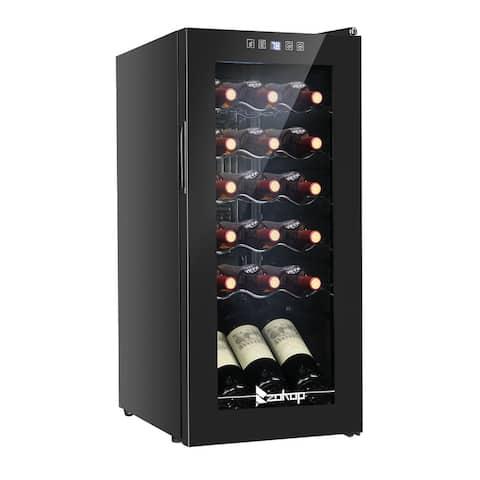 ZOKOP AC 115V /60Hz 1.8Cu.Ft/2.8Cu.Ft Compressor Wine Cabinet Wine Rack Black