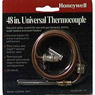 "Honeywell CQ100A1047 Universal Thermocouple, 48"", Copper"