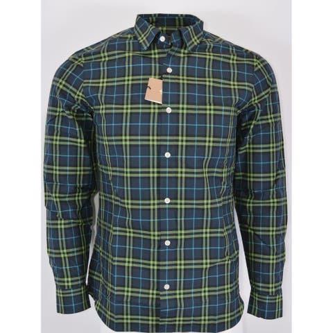Burberry Brit Men's ALEXANDER Blue Green Nova Check Cotton Shirt