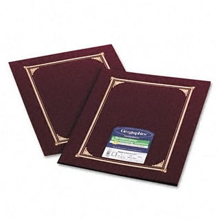 Certificate/Document Cover Linen Stock Burgundy Six per Pack