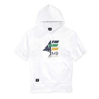 LRG NEW White Mens Size 3XL Big & Tall Drawstring Hooded Sweater