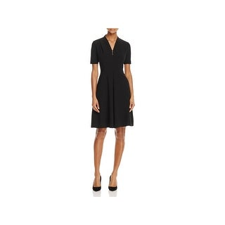 T Tahari Womens Flora Wear to Work Dress Bead Trim Short Sleeves (2 options available)