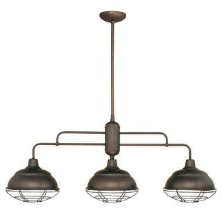 Millennium Lighting 5313 Neo-Industrial 3 Light Single Tier Linear Chandelier