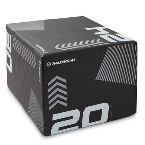 3 in 1 Plyometric Box - Soft Foam Plyo Jump Trainer by Philosophy Gym