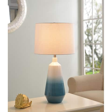 Kaia Sky Blue Ombre Ceramic 27 Inch Table Lamp