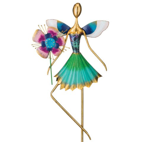 "Fairy Garden Decor - Flower - 11.75""x4""x34.5"""