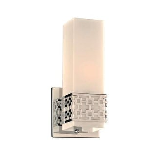 "PLC Lighting 7562 1 Light 4.75"" Wide Bathroom Sconce from the Herman Collection - Polished Chrome"