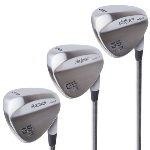 GoSports Tour Pro Golf Wedge Set  Includes 52 Gap Wedge, 56 Sand Wedge and 60 Lob Wedge in Satin (Right Handed)