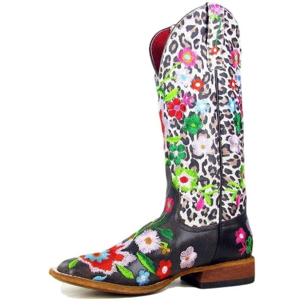 Macie Bean Western Boots Womens Cowboy Floral Leopard Brown