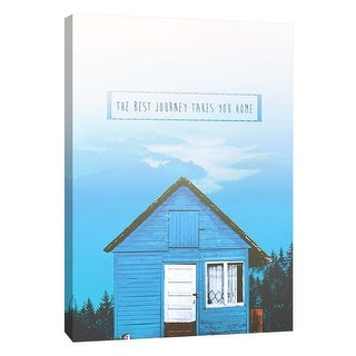"PTM Images 9-109105  PTM Canvas Collection 10"" x 8"" - ""Tiny Home Sentiments 3"" Giclee Home Art Print on Canvas"