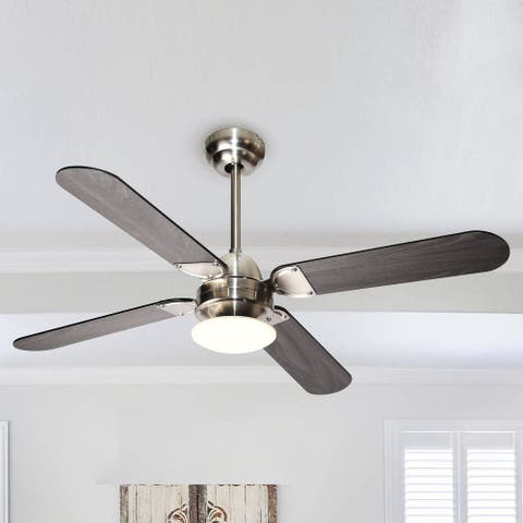 42-inch Stain Nickel 4-blade LED Ceiling Fan with Wall Control