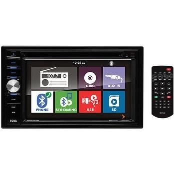 "Boss 6.2"" DDin Receiver Touchscreen Bluetooth DVD/CD USB/SD Front Aux"