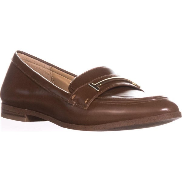A35 Ameliaa Sleek Dress Loafer Flats, Cognac