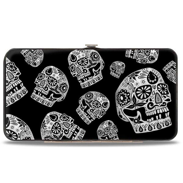 The Dust Of Living Ii Sugar Skulls Black White Hinged Wallet - One Size Fits most