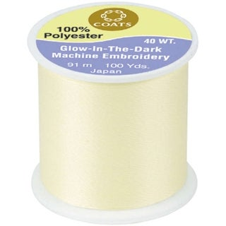 Glow-In-The-Dark Machine Embroidery Thread 100yd-Yellow - YELLOW