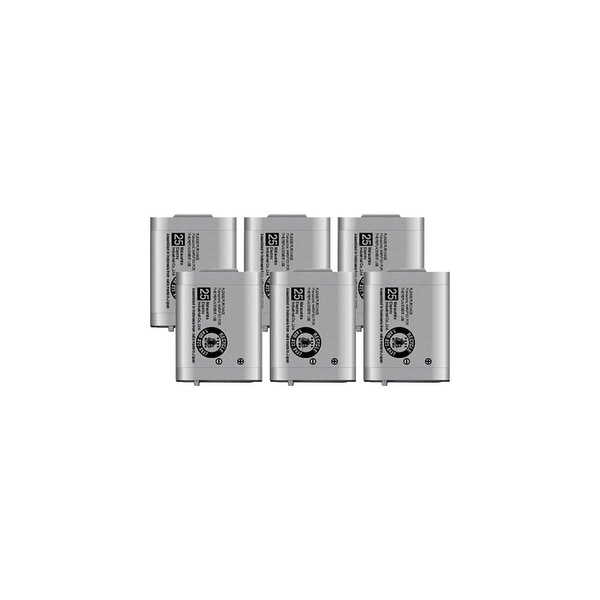 Replacement Panasonic KX-TD7684 NiMH Cordless Phone Battery (6 Pack)