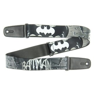 Batman DC Comics Superhero Silver Bat Wings Guitar Strap