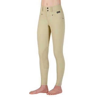 Kerrits English Breeches Girls Crossover Stain Resistant Stretch 60537 (Option: White)