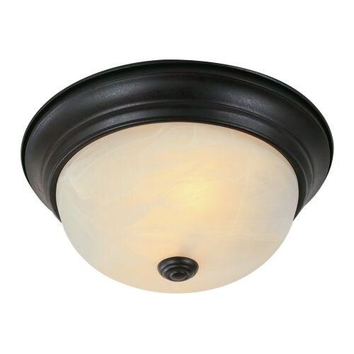 Trans Globe Lighting 13617 Two Light Down Lighting Flush Mount Ceiling Fixture