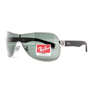 RAY-BAN Shield RB 3471 Unisex 004/71 Gunmetal Green Sunglasses - 99mm-0mm-130mm