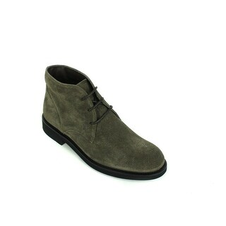 Tod's Men's Suede Grey Lace Up Slip On Boots