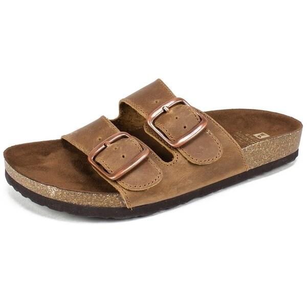 White Mountain Womens Helga Open Toe Casual Slide Sandals