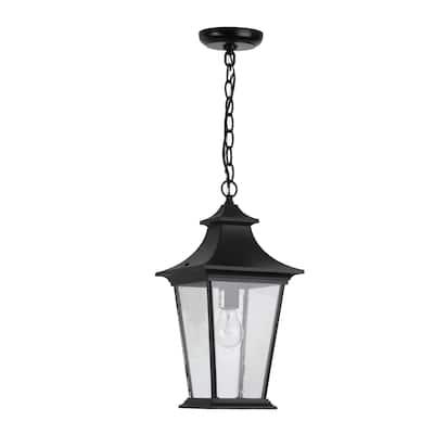 1 Light Outdoor Hanging Light - Black Finish
