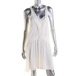 Zara Basic Womens Crepe Sleeveless Sundress