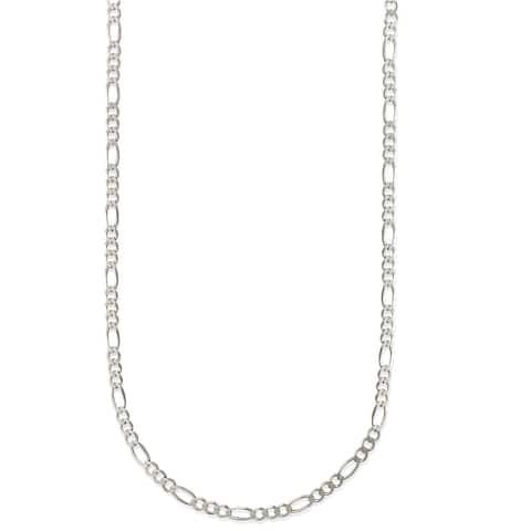 Pori Jewelers Sterling Silver 1.25mm Figaro Chain