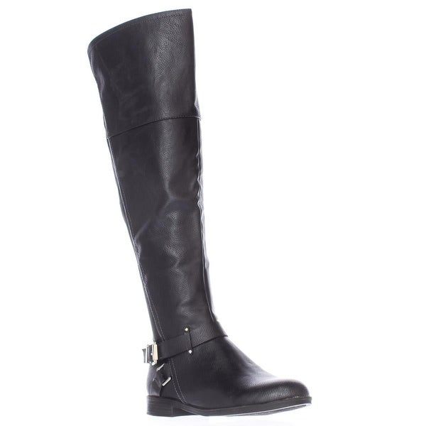 SC35 Dolly Wide Calf Back Stretch Riding Boots, Black - 6 us