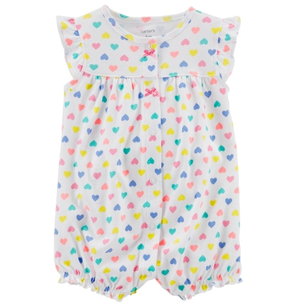 6e777fe4e Shop Carter s Baby Girls  Whale Snap-Up Cotton Romper - Free ...