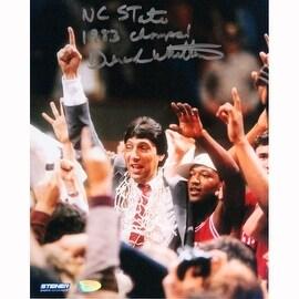 """Dereck Whittenburg 8x10 photo w/ """" NC State 1983 Champs"""" Insc."""
