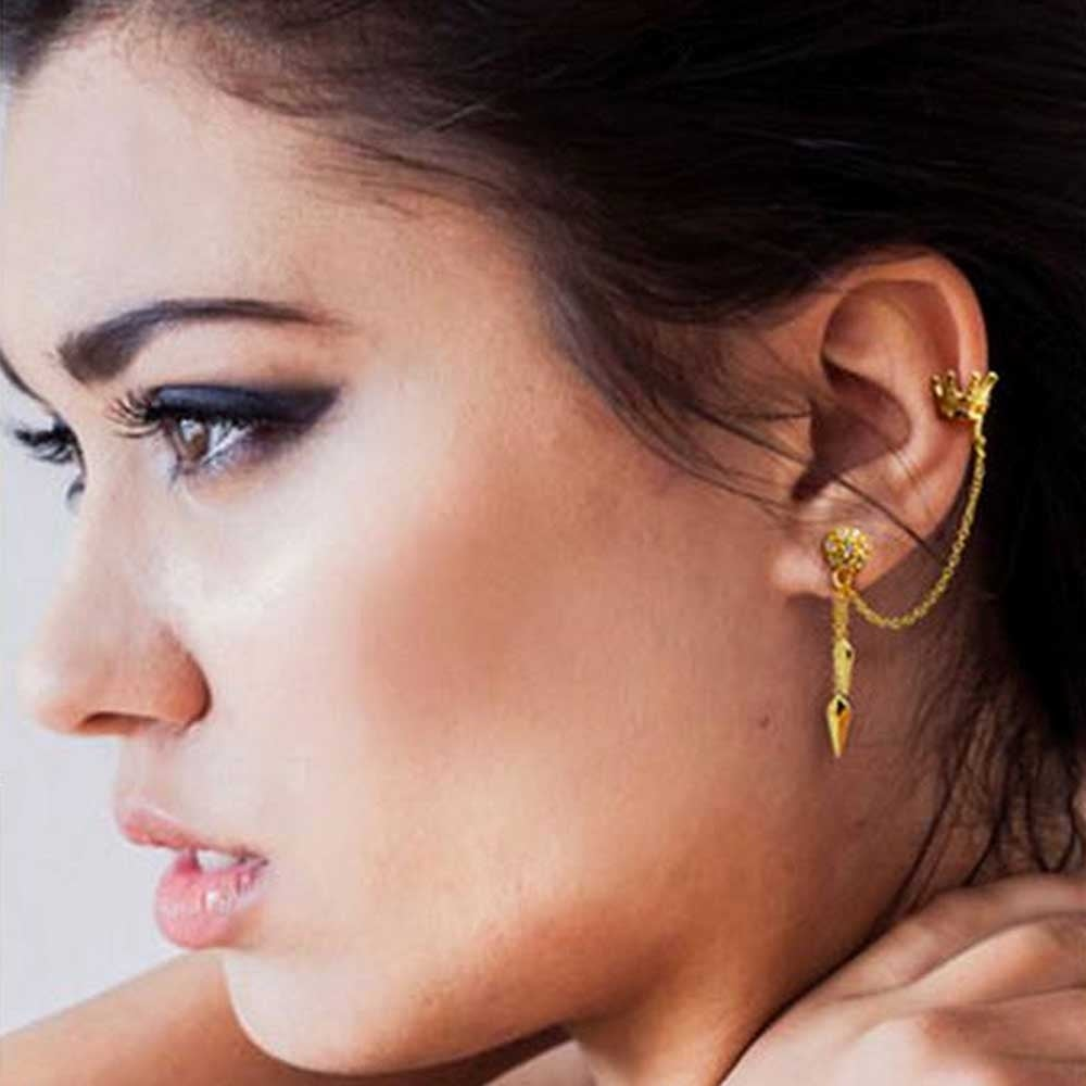 Shop Princess Crown Arrows Dangling Cartilage Ear Helix Earrings