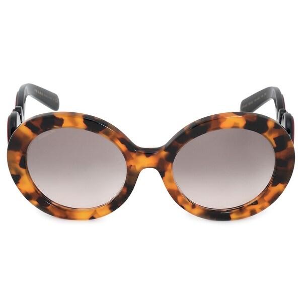 9e3605f99c74 Shop Prada Minimal Baroque Round Sunglasses PR08TS 2AU0A7 55 - Ships ...
