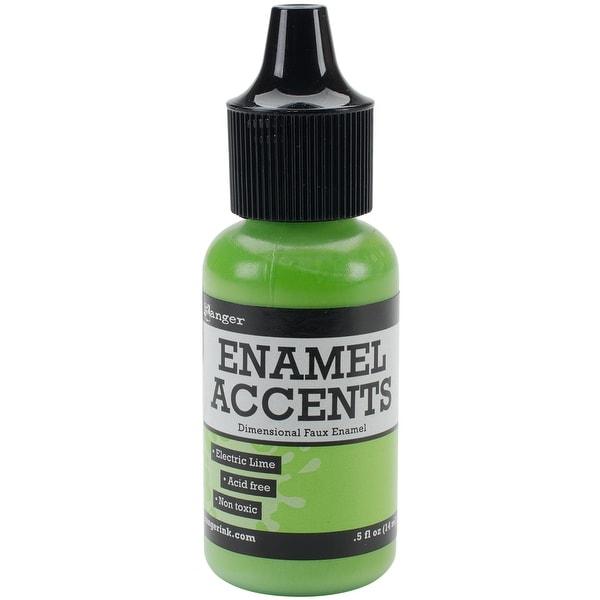 Enamel Accents .5oz-Electric Lime