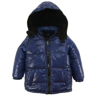 Ixtreme Toddler Boys Down Alternative Hooded Winter Puffer Bubble Jacket Coat