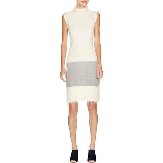 Diane Von Furstenberg Womens Casual Dress Plush Metallic