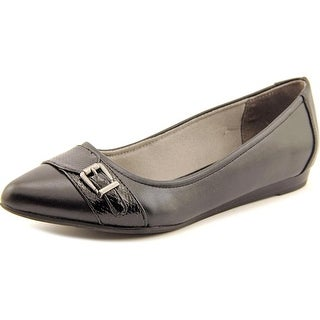 Life Stride Qualify Women Pointed Toe Synthetic Black Flats