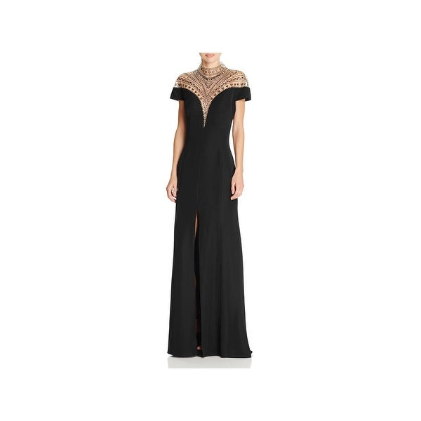 Shop Tadashi Shoji Womens Formal Dress High Neck Beaded Free