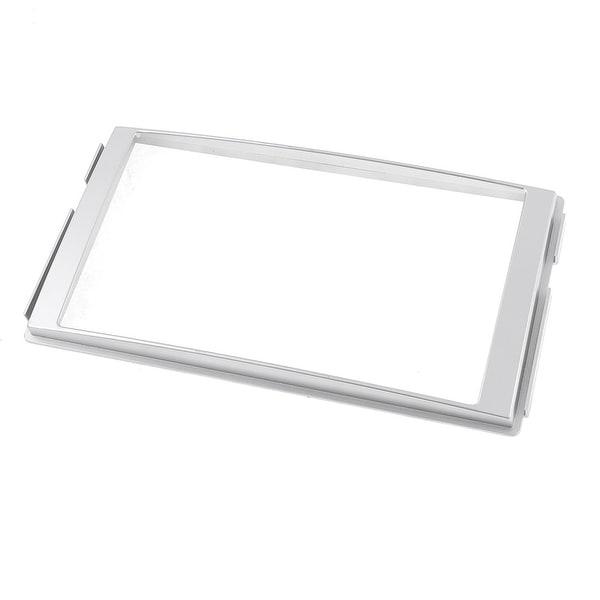 Unique Bargains Silver Tone Plastic Sudio Stereo System DVD Holder Frame for Hyundai Santa Fe