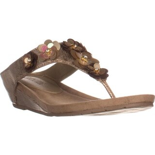 Kenneth Cole REACTION Great Party Wedge Sandals, Soft Gold