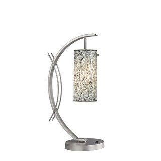 Woodbridge Lighting 13482STN-M10WHT 1 Light Table Lamp from the Eclipse Collecti