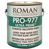 Roman Adhesives 10301 Ultra Prime Pigmented Premium Wallpaper Primer, 1 Gal, White