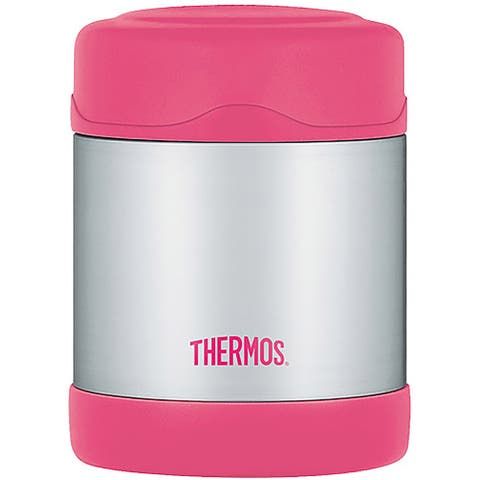 Thermos FUNtainer Stainless Steel Food Jar, Pink, 10 Ounces