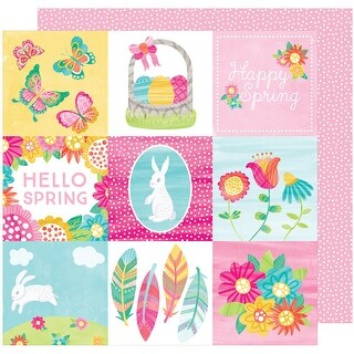 "Hello Spring Double-Sided Cardstock 12""X12""-Sunny Bunny"