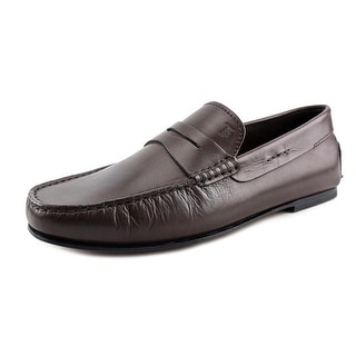 Tod's Mocassino SYLT Men Moc Toe Leather Brown Loafer
