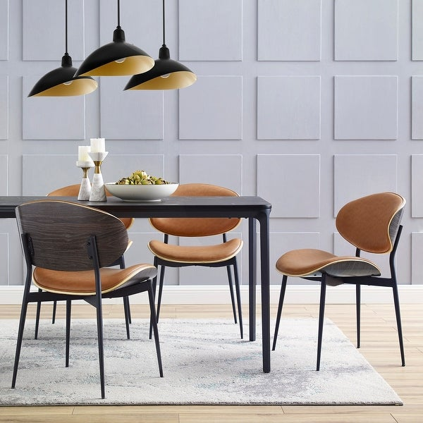 Art-leon Mid-Century Bentwood Accent Upholstery Dining Chairs. Opens flyout.