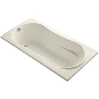 "Kohler K-1159 Proflex Collection 72"" Drop In Soaking Bath Tub with Reversible Drain - White"