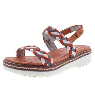 Jambu Womens Ocean City Leather Slingback Platform Sandals - 7 medium (b,m)